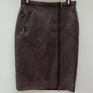 J Crew Asymmetrical Zipper Pencil Skirt